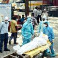 Corona Virus Deaths Cremation PTI (4)