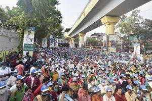 8 अप्रैल को कोलकाता में हुई टीएमसी की एक रैली. (फोटो: पीटीआई)