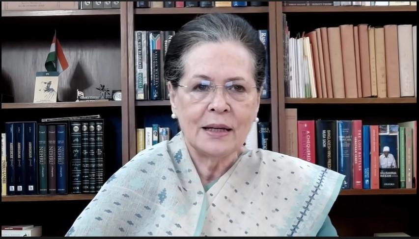 कांग्रेस अध्यक्ष सोनिया गांधी. (साभार: वीडियोग्रैब/कांग्रेस यूट्यूब चैनल)