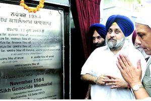 Rajnath-Singh-and-Sukhbir-Singh-Badal-at-the-1984-Genocide-Memorial