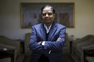 Arvind Panagariya, head of the government's main economic advisory body, poses for a picture after an interview with Reuters in New Delhi, January 18, 2016. REUTERS/Adnan Abidi