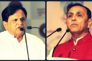Ahmed Patel Vijay Rupani FB Twitter
