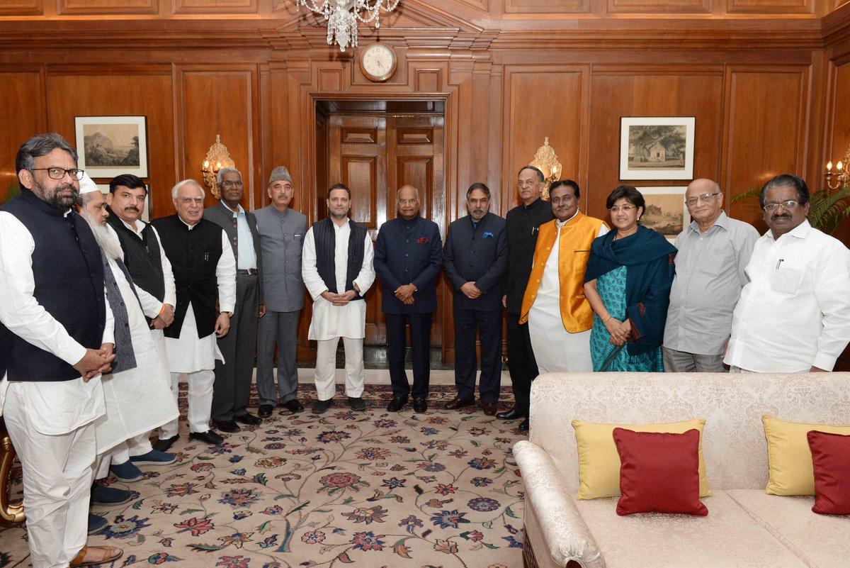 Opposition Meeting President Kovind Twitter