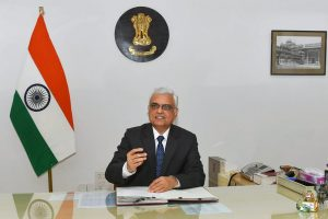 New Delhi: India's new Chief Election Commissioner Om Prakash Rawat poses in his office as he takes charge in New Delhi on Tuesday. PTI Photo by Vijay Verma(PTI1_23_2018_000033B)