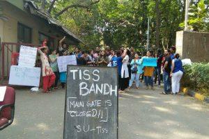 छात्र-छात्राओं ने टाटा सामाजिक विज्ञान संस्थान में बंद का आह्वान किया है. (फोटो साभार: फेसबुक/University Community)
