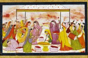 Radha_celebrating_Holi wikimedia commons
