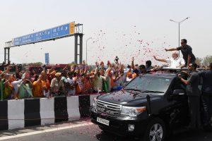The Prime Minister, Shri Narendra Modi during the inauguration of Delhi-Meerut Expressway, in Delhi on May 27, 2018.