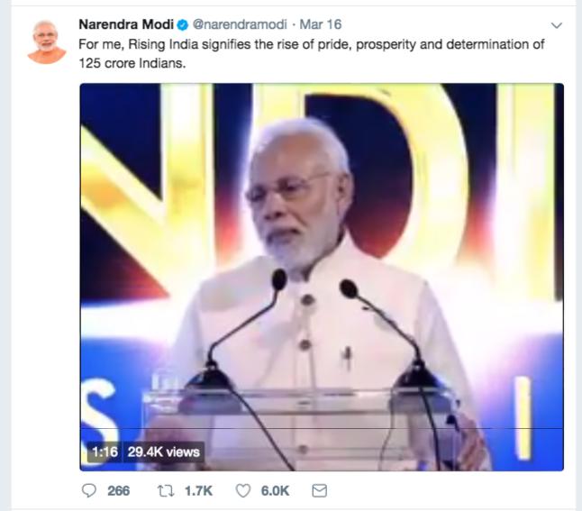Modi Tweet India Rising