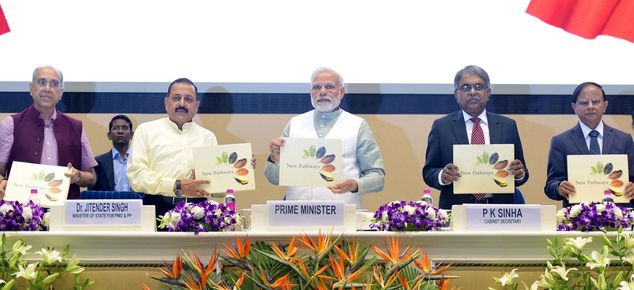 The Prime Minister, Shri Narendra Modi releasing the book on the occasion of the 12th Civil Services Day, in New Delhi on April 21, 2018. The Minister of State for Development of North Eastern Region (I/C), Prime Minister's Office, Personnel, Public Grievances & Pensions, Atomic Energy and Space, Dr. Jitendra Singh, the Cabinet Secretary, Shri P.K. Sinha and other dignitaries are also seen.