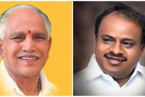 बीएस येदियुरप्पा और एचडी कुमारस्वामी. (फोटो साभार: फेसबुक/ट्विटर)