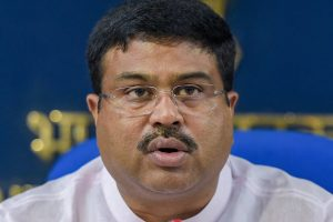 New Delhi: Union Minister for Petroleum, Natural Gas and Skill Development, Dharmendra Pradhan addresses a press conference on 48 months achievements and initiatives of his ministry, in New Delhi on Wednesday, June 06, 2018. (PTI Photo/Vijay Verma) (PTI6_6_2018_000160B)