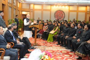 The IAS Probationers calls on the Prime Minister, Shri Narendra Modi, in New Delhi on February 16, 2015.  	The Minister of State for Development of North Eastern Region (I/C), Prime Minister's Office, Personnel, Public Grievances & Pensions, Department of Atomic Energy, Department of Space, Dr. Jitendra Singh is also seen.