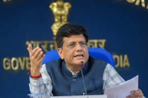 New Delhi: Union Minister for Railways, Coal and Finance Piyush Goyal addresses a press conference after the Cabinet meeting in New Delhi on Wednesday, June 13, 2018. (PTI Photo/Vijay Verma) (PTI6_13_2018_000147B)