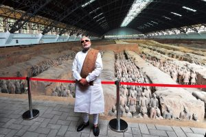 The Prime Minister, Shri Narendra Modi visiting the Terracota Warriors Museum, in Xi'an, Shaanxi, China on May 14, 2015.