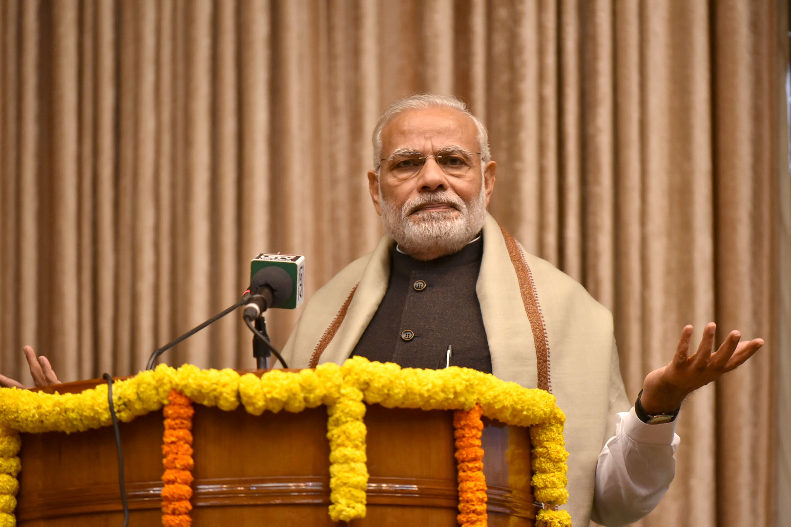 The Prime Minister, Shri Narendra Modi addressing at the ceremony to mark the release of two books on Indian Constitution, at Parliament House Annexe, in New Delhi on November 25, 2016.