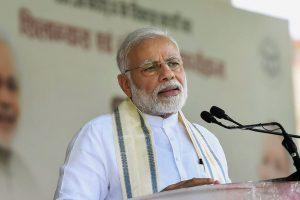 Varanasi: Prime Minister Narendra Modi speaks during the inauguration of various development projects, in Varanasi, Tuesday, September 18, 2018. (PIB Photo via PTI)(PTI9_18_2018_000050B)