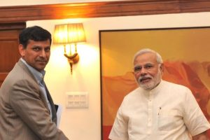The Governor of Reserve Bank of India, Shri Raghuram Rajan calling on the Prime Minister, Shri Narendra Modi, in New Delhi on June 01, 2014.