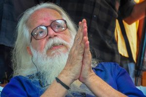 """Thiruvananthapuram: Former ISRO scientist Nambi Narayanan speaks to media, in Thiruvananthapuram, Friday, Sept 14, 2018. The Supreme Court today held Narayanan was """"arrested unnecessarily, harassed and subjected to mental cruelty"""" in a 1994 espionage case and ordered a probe into the role of Kerala police officers. (PTI Photo) (PTI9_14_2018_000100B)"""