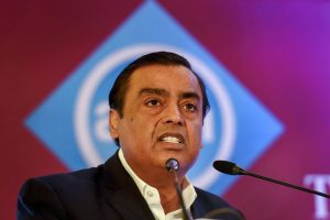 New Delhi: Reliance Industries Limited Chairman Mukesh Ambani addresses the 24th Annual International Conference on Mobile Computing and Networking (ACM Mobicom) 2018, in New Delhi, Tuesday, Oct 30, 2018. (PTI Photo/Atul Yadav) (PTI10_30_2018_000038B)