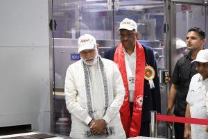 Narendra Modi at Amul Plant Twitter namo featured