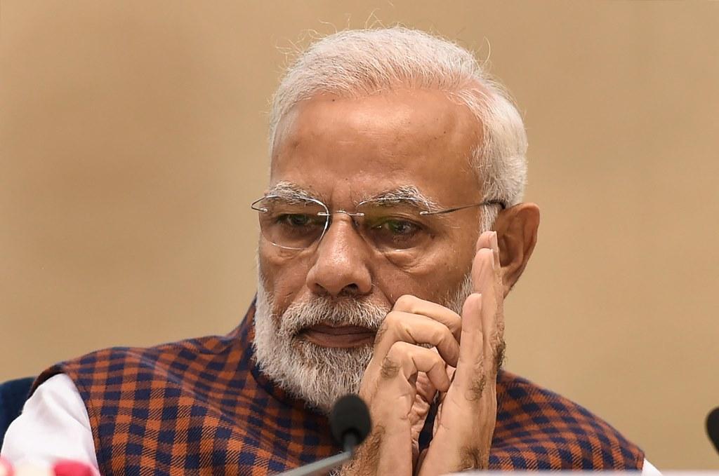 New Delhi: Prime Minister Narendra Modi at the silver jubilee celebration of National Human Right Commission, in New Delhi, Friday, Oct 12, 2018. (PTI Photo/Atul Yadav) (PTI10_12_2018_100099B)