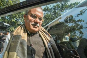 New Delhi: Congress leader Bhupesh Baghel, one of the front runners for Chhattisgarh Chief Minister's post, leaves from the residence of party President Rahul Gandhi, in New Delhi, Saturday, Dec 15, 2018. (PTI Photo/Arun Sharma) (PTI12_15_2018_000027B)