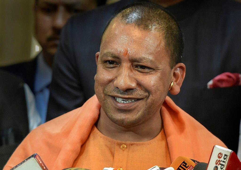 Lucknow: UP Chief Minister Yogi Adityanath talks to the media at Central Hall of Assembly in Lucknow, Wednesday, Dec. 19, 2018. (PTI Photo/Nand Kumar) (PTI12_19_2018_000091)