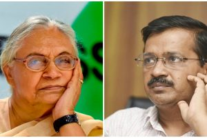 दिल्ली कांग्रेस अध्यक्ष शीला दीक्षित और दिल्ली के मुख्यमंत्री अरविंद केजरीवाल. (फोटो: पीटीआई/रॉयटर्स)