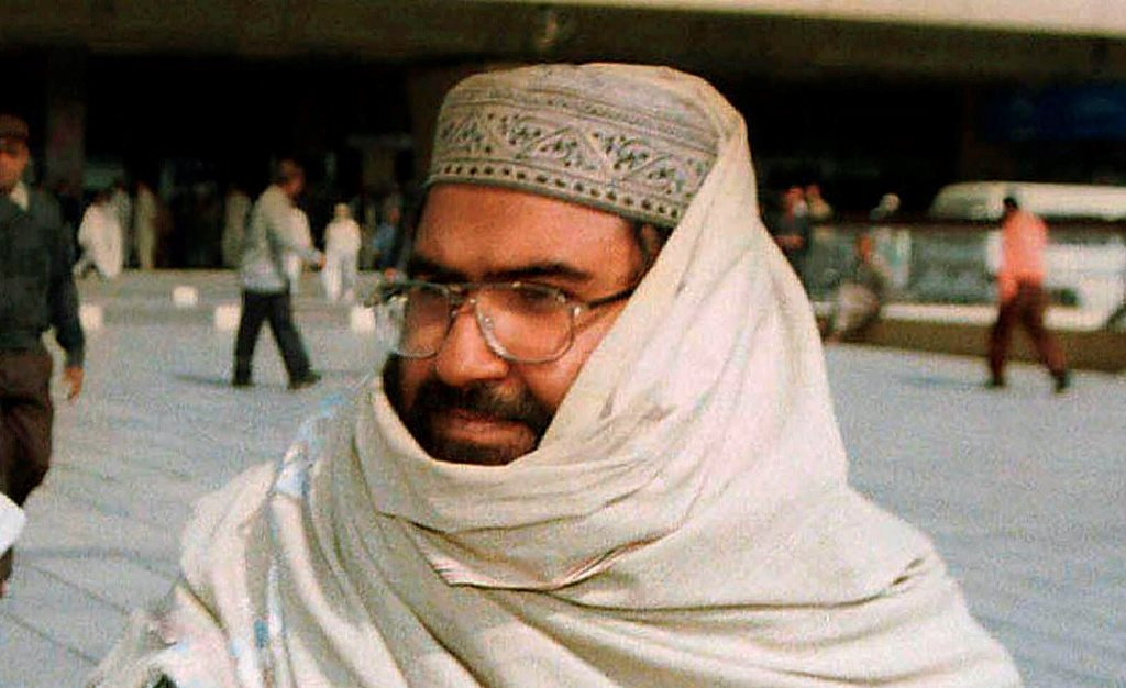 KARACHI: FILE - In this Jan. 22, 2000 file photo, Masood Azhar, founder of a major Islamic militant group, Jaish-e-Mohammad arrives in Karachi, Pakistan. When a suicide bomber blew himself up on Feb. 14, 2019, killing more than 40 soldiers in India's insurgency wracked Kashmir region, the militant group Jaish-e-Mohammad was quick to take responsibility. The Pakistan-based group's attack in Kashmir sent tensions soaring between the two nuclear armed neighbors. AP/PTI Photo(AP2_28_2019_000168B)