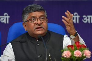 केंद्रीय मंत्री रविशंकर प्रसाद (फोटो: पीटीआई)