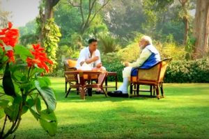 Akshay Kumar PM Modi Interview Photo YouTube BJP