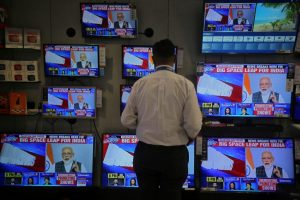 Narendra Modi Mission Shakti Announcement TV Reuters