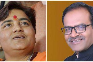 प्रज्ञा सिंह ठाकुर और आलोक संजर. (फोटो: पीटीआई/फेसबुक)