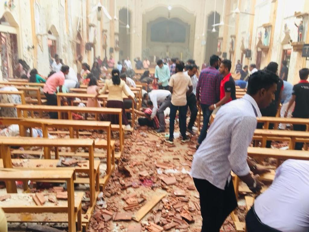 श्रीलंका के एक चर्च में हुआ धमाका. (फोटो साभार: ट्विटर)