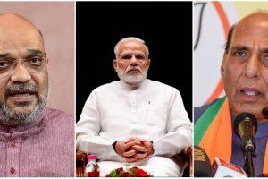 प्रधानमंत्री नरेंद्र मोदी, गृह मंत्री अमित शाह और रक्षा मंत्री राजनाथ सिंह. (फोटो: पीटीआई)