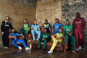 साल 2019 के क्रिकेट विश्वकप में शामिल सभी टीमों के कप्तान. (फोटो साभार: आईसीसी)