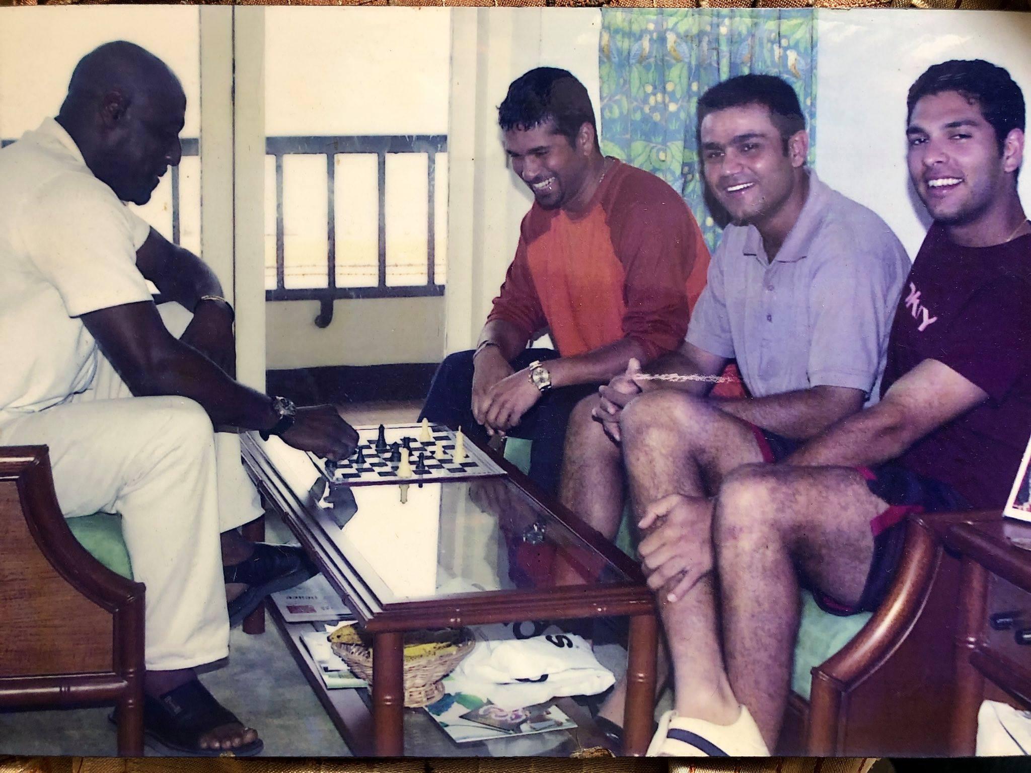 Yuvraj Singh Sachin Sehwag Viv Richards FB Yuvi