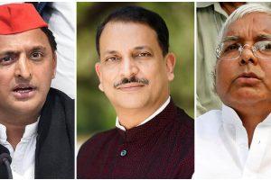 सपा प्रमुख अखिलेश यादव, भाजपा सांसद राजीव प्रताप रूडी और राजद प्रमुख लालू यादव. (फोटो: पीटीआई/फेसबुक)