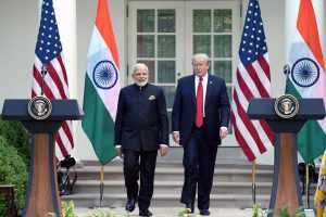 The Prime Minister, Shri Narendra Modi and the President of United States of America (USA), Mr. Donald Trump at the Joint Press Statement, at White House, in Washington DC, USA on June 26, 2017.