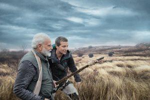 मैन वर्सेस वाइल्ड शो के विशेष एपिसोड में बेयर ग्रिल्स के साथ प्रधानमंत्री मोदी. (फोटो साभार: डिस्कवरी चैनल)