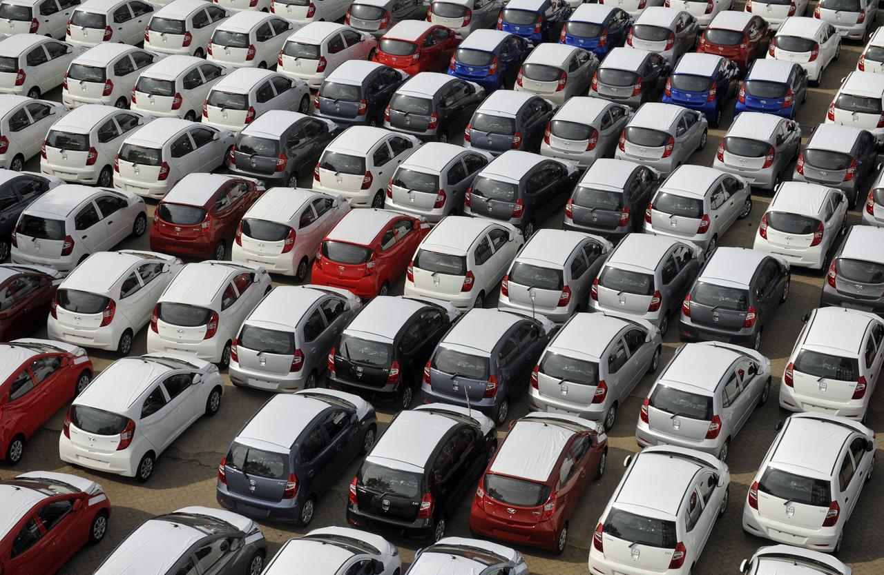 Hyundai cars ready for shipment are parked at a port in Chennai October 1, 2013. REUTERS/Babu/Files