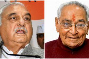 कांग्रेस नेता भूपेंद्र सिंह हुड्डा और मोतीलाल वोरा. (फोटो: पीटीआई)