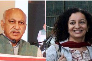 एमजे अकबर और प्रिया रमानी. (फोटो: पीआईबी/पीटीआई)