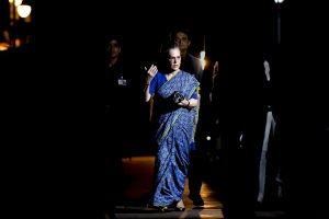 New Delhi: Congress Parliamentary Party (CPP) Chairperson Sonia Gandhi arrives to attend the Congress Working Committee (CWC) meeting, in New Delhi, Saturday, August 10, 2019. TheCongress Working Committeelate on Saturday named Congress Parliamentary Party chairpersonSonia Gandhi as party's interim President. (PTI Photo/Ravi Choudhary)(PTI8_11_2019_000105B)