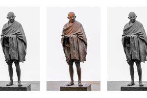 **EDS: UNDATED PHOTO** London: An undated photo of a sculpture of Mahatma Gandhi, at Parliament Square in London. (PTI Photo) (TO GO WITH STORY)(PTI9_29_2019_000055B)