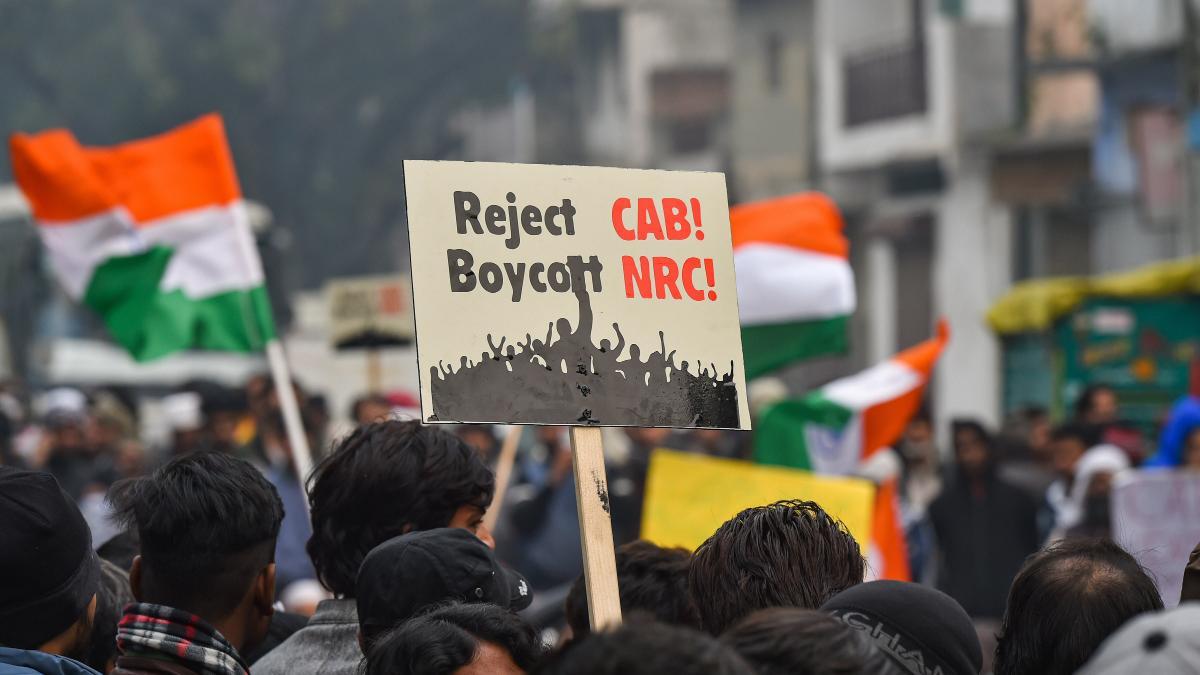 नागरिकता संशोधन कानून के खिलाफ प्रदर्शन के दौरान की तस्वीर (फोटो: पीटीआई)