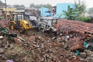 Coimbatore: Rescue work being carried out at the site of the wall collapse in Nadur village of Mettupalayam taluk, near Coimbatore, Monday, Dec. 2, 2019. Seventeen people were killed in the incident on Sunday night after the compound wall of three tile roofed houses collapsed on them, reportedly due to rains. (PTI Photo)   (PTI12_2_2019_000107B)