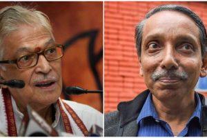 भाजपा नेता मुरली मनोहर जोशी और जेएनयू के कुलपति एम. जगदीश कुमार. (फोटो: पीटीआई)