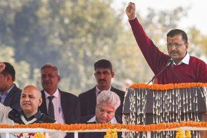 Arvind Kejriwal Oath Taking PTI