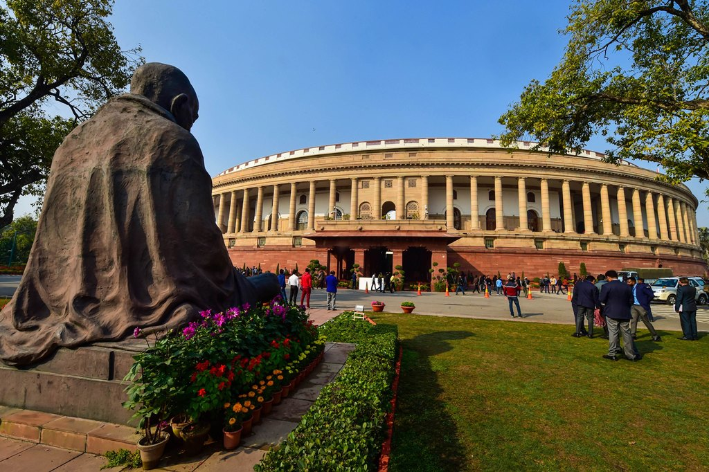 New Delhi: A view of Parliament on the day of the presentation of the Union Budget 2020-21 in the Lok Sabha, in New Delhi, Saturday, Feb. 1, 2020. (PTI Photo/Manvender Vashist) (PTI2_1_2020_000030B)